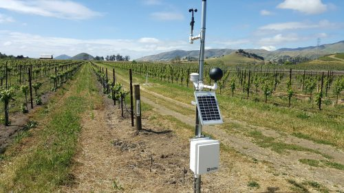 Weather Station in the vineyards